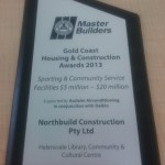 Northbuild QMBA Award 2013 - Sport and Community Service